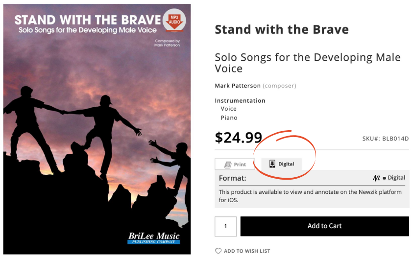 Stand with the Brave on iPad and product page screenshot