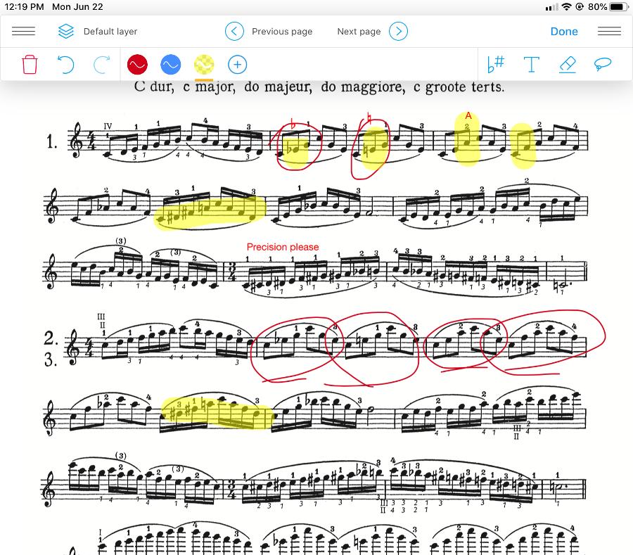 Newzik Score with Annotations Screenshot