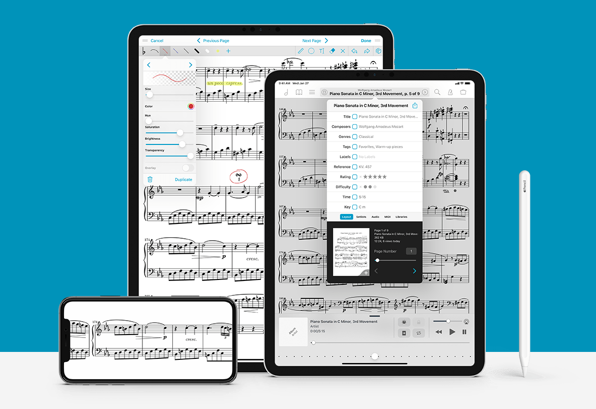 forscore on iPad and iPhone